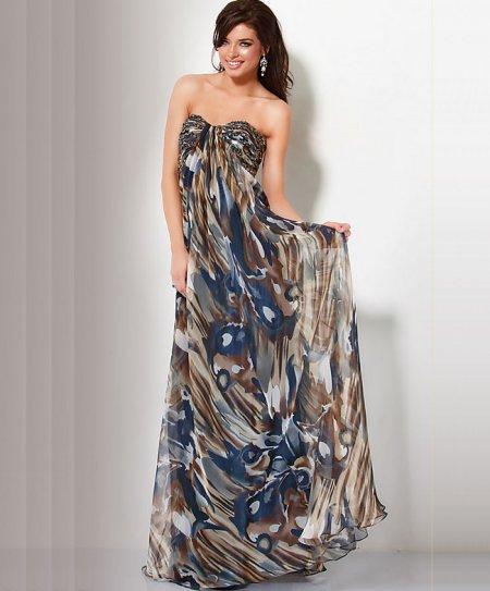 Long Strapless Summer Dress 20
