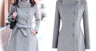 Amazon.com: OURS Women's Lapel Long Wool Worsted Coat Long Sleeve .