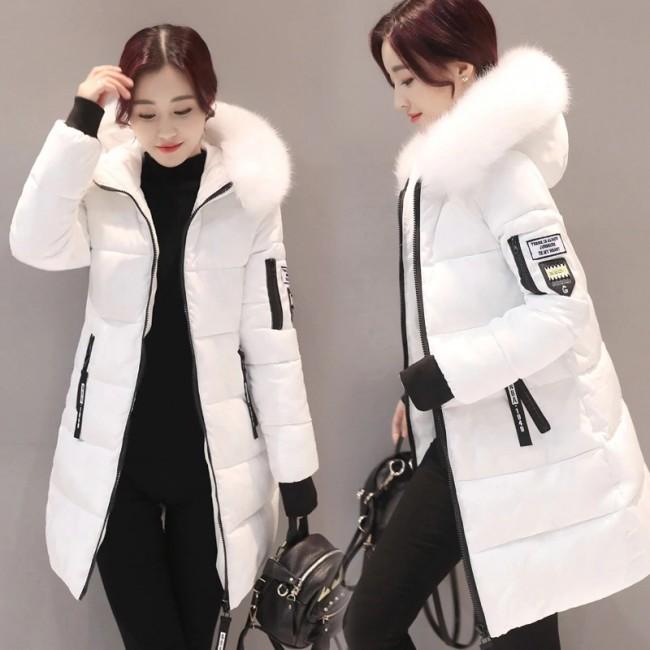 Parka Women Winter Coats Long Cotton Casual Fur Hooded Jackets .