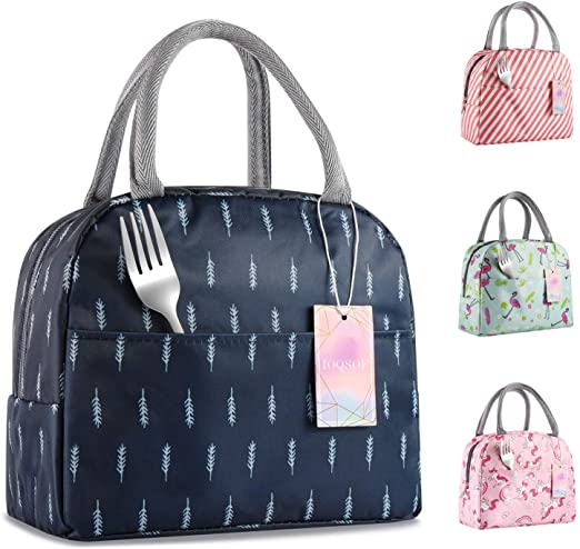 Amazon.com: IOQSOF Lunch Bag for Women Stylish Lunch Tote Bag .