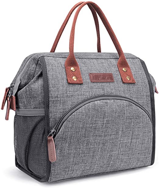 Amazon.com: LOKASS Lunch Bag Insulated Lunch Box Wide-Open Lunch .