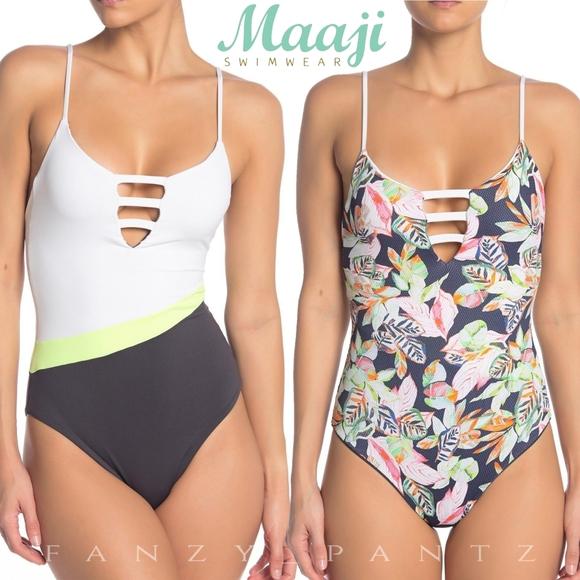 Maaji Swim | One Piece Reversible Suit Black Forest | Poshma
