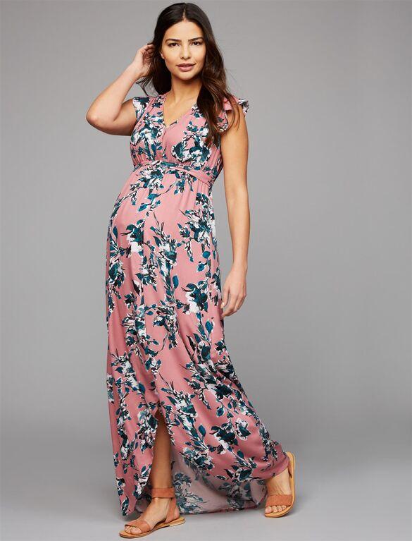 Splendid Faux Wrap Maternity Maxi Dress | A Pea in the Pod Materni