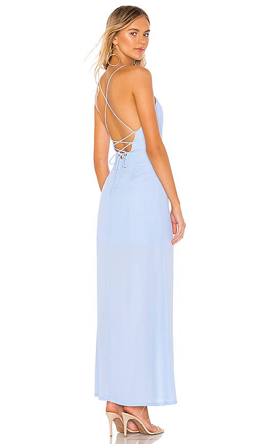 superdown Eve Maxi Dress in Light Blue | REVOL