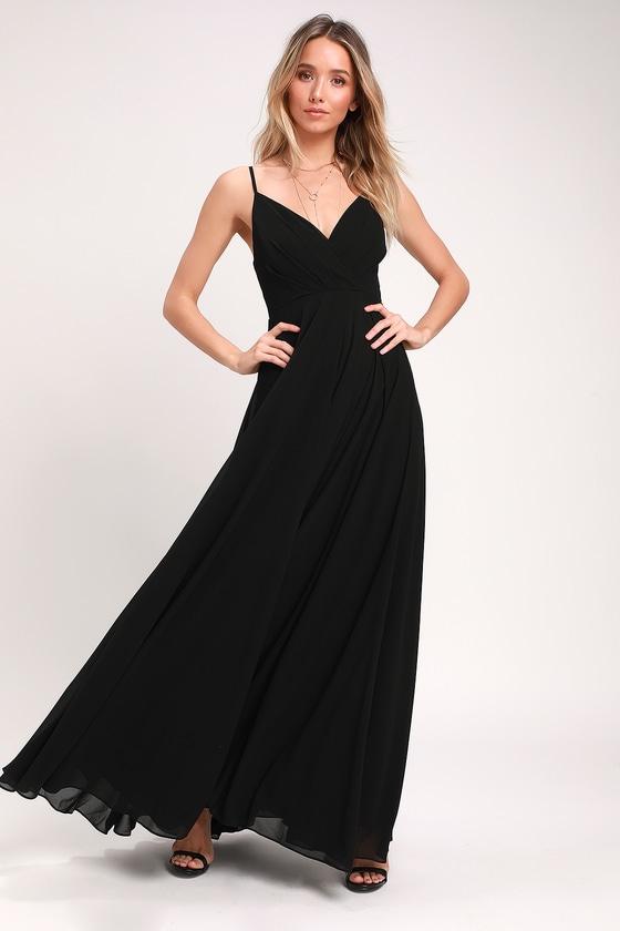 Lovely Black Maxi Dress - Black Maxi - Gown - Bridesmaid Dre