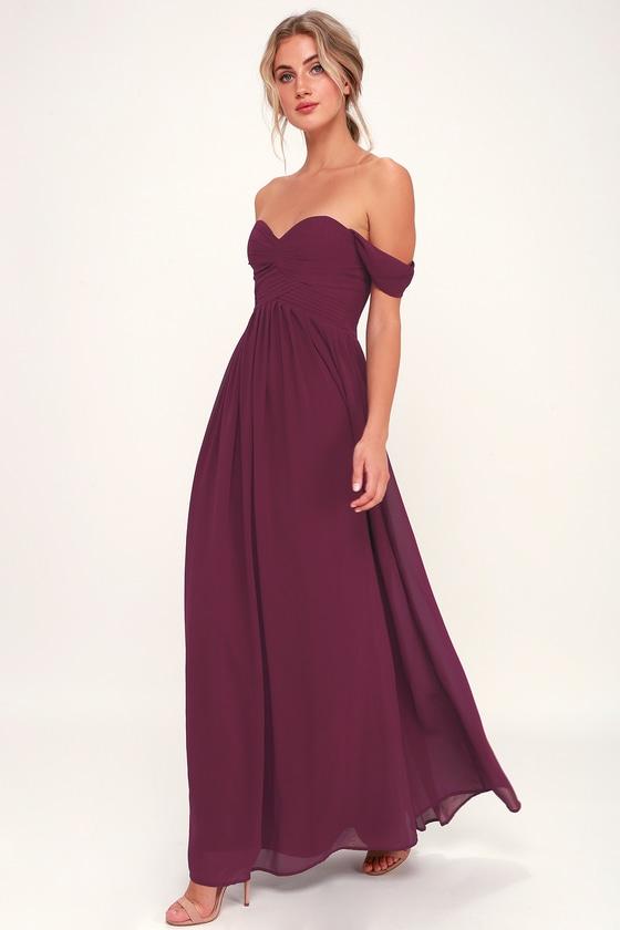 Stunning Maxi Dress - Burgundy Maxi Dress - Formal Maxi Dre
