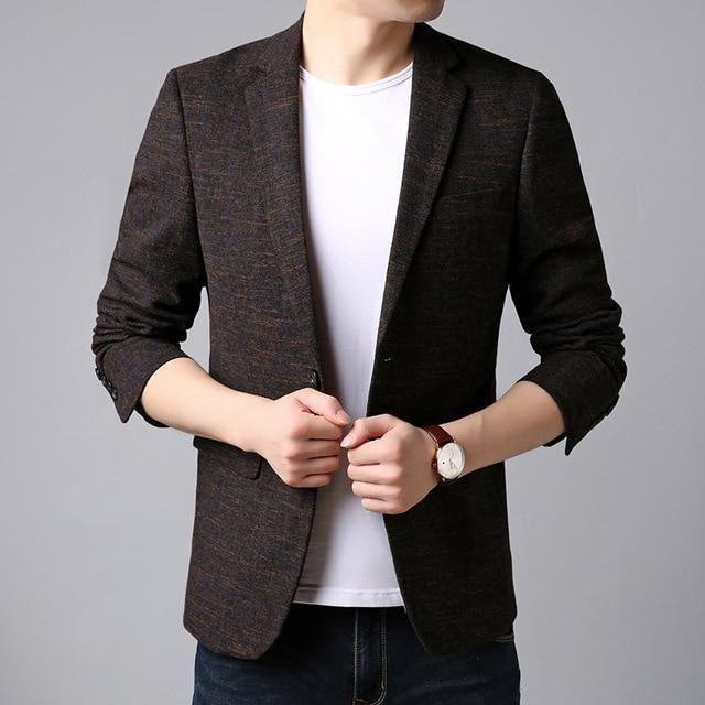 Blazer Jacket Men Korean Trending Casual Men | Slim fit suits .