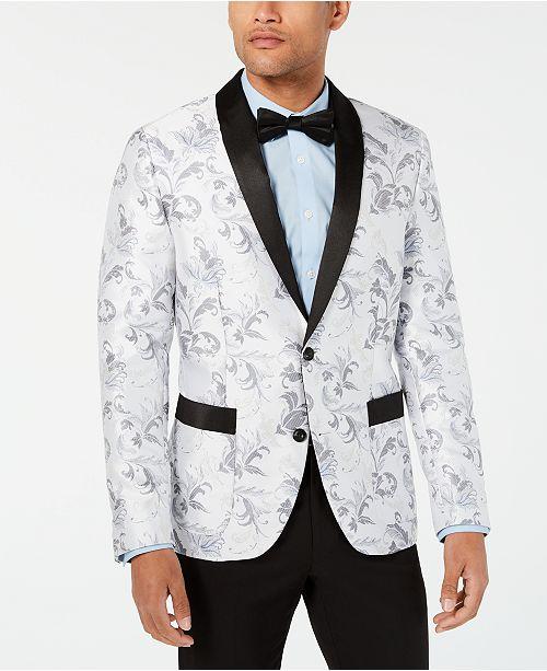 INC International Concepts INC Men's Slim-Fit Floral Blazer .