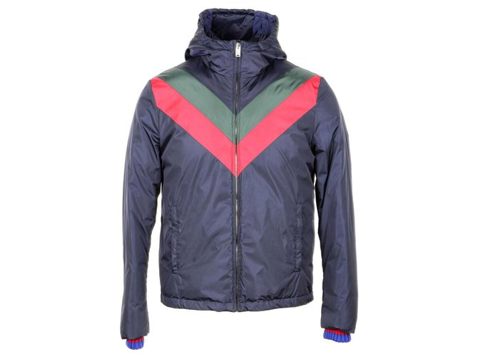 Gucci Gucci jacket new Men Coats Outerwear Polyester Blue ref .