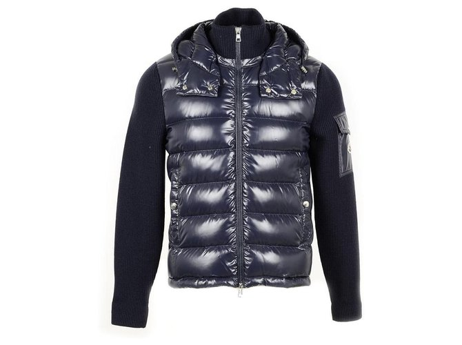 Moncler Men Coats Outerwear Men Coats Outerwear Other Navy blue .