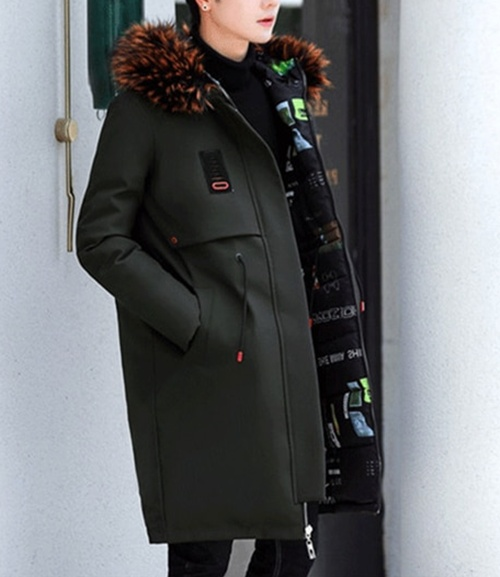 Winter Warm Fashion Elegant Parkas Fur Hooded Long Men Coat Jacket .