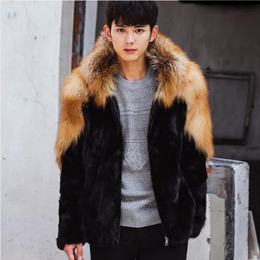 2020 Clobee Men Coats 2019 Winter Mens Luxury Mink Faux Fur Coat .