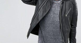 Jackson Leather Jacket | Mens Biker Asymmetrical Sty