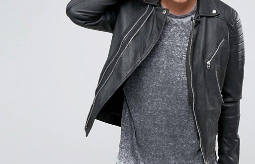 Jackson Leather Jacket | Mens Biker Asymmetrical Sty