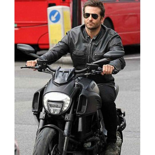 BLACK SPORTS LEATHER BIKER JACKET FOR MEN