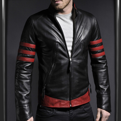 MEN'S STYLISH RETRO LEATHER JACKET, MENS BIKER JACKETS · Rangoli .