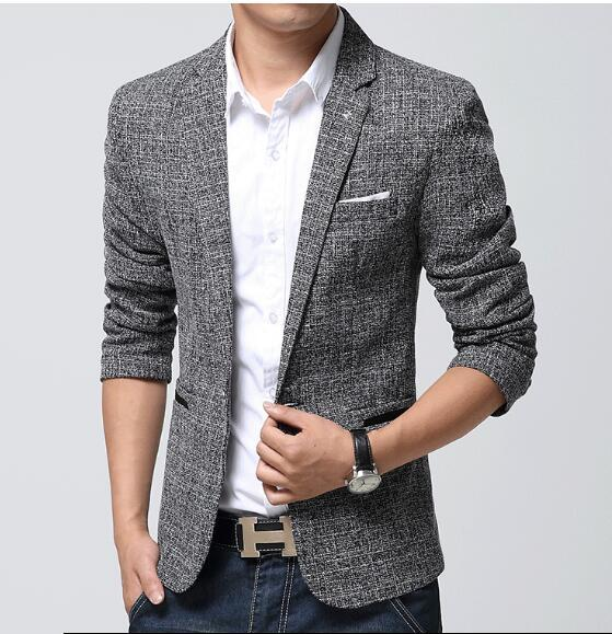 2020 Men Linen Blazer Casual Suit Mens Formal Business Blazers .