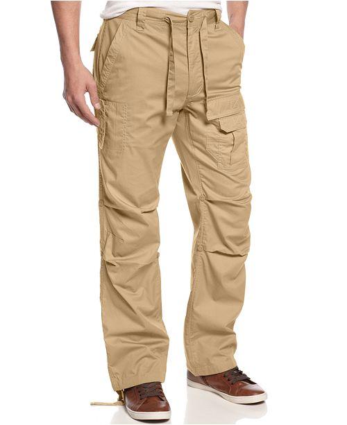 Sean John Men's Pleat Pocket Flight Cargo Pants, Created for .
