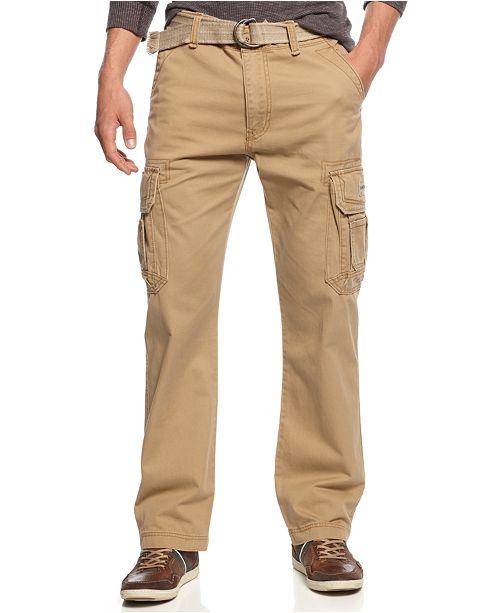 Unionbay Men's Survivor Belted Cargo Pants & Reviews - Pants - Men .