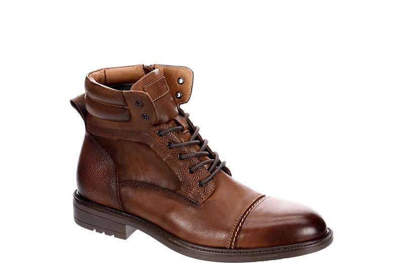 Cognac Steve Madden Mens Ghazi Cap Toe Rugged Casual Boot | Boots .