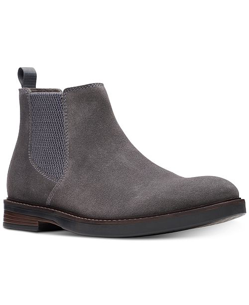 Clarks Men's Paulson Up Graphite Suede Casual Boots & Reviews .