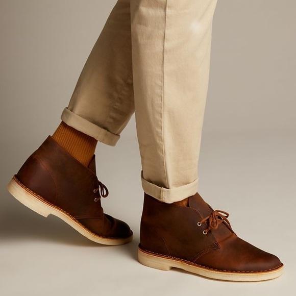 Clarks Shoes | Nib Clark Men Desert Boots Beeswax Brown Size 8 .