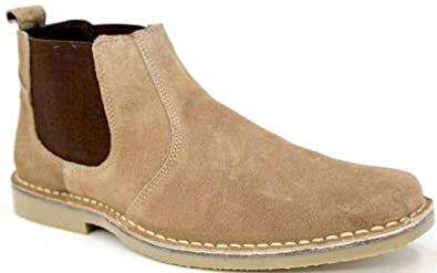 Amazon.com | Roamers Mens M765 Taupe Suede New Mens Desert Boots .