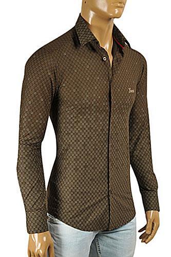 GUCCI Men's Button Front Dress Shirt #3