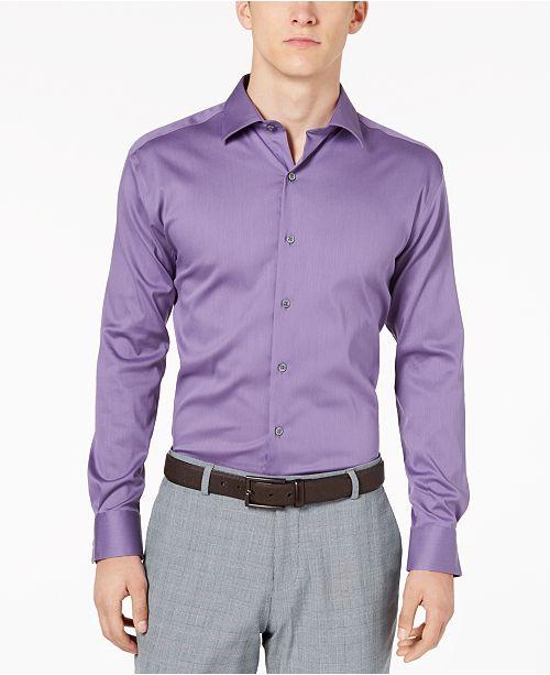 Alfani Men's Bedford Cord Classic/Regular Fit Dress Shirt, Created .