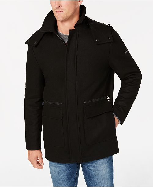 Calvin Klein Men's Duffle Coat & Reviews - Coats & Jackets - Men .