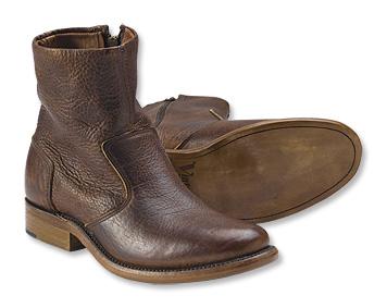 Bison Leather Zip Boots - Orv