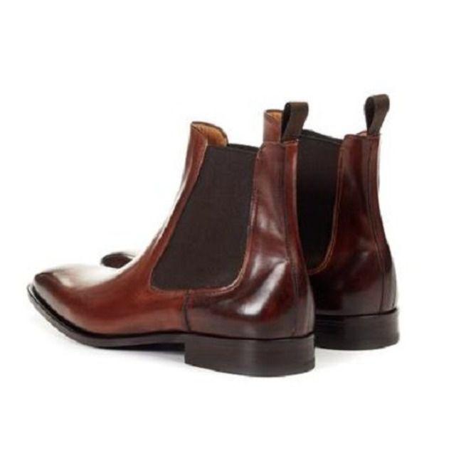 Men Brown Color Chelsea Boots, Ankle Boots, Mens | RebelsMark