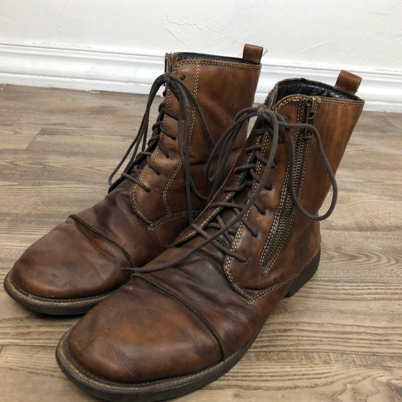 Bed Stu Shoes | Bedstu Mens Size 115 Lace Up Brown Leather Boots .