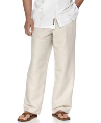 "Cubavera Big and Tall Drawstring Linen-Blend 32"" Length Pants ."
