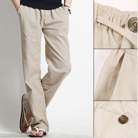 Men's Linen Pants | Model pakaian pria, Gaya pr