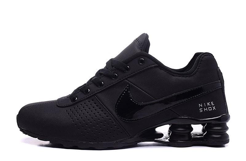 Men's Nike Shox Deliver Triple Black 317547 034 Running Shoes .
