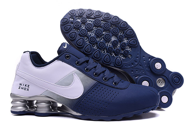 Men's Nike Shox Deliver Deep Blue White Running Shoes .
