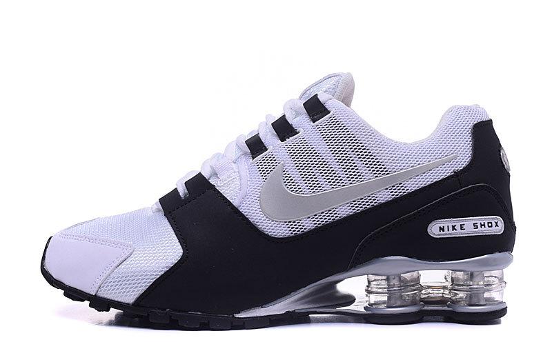 Nike Shox NZ White Black Silver Mens Running Shoes Sneakers .