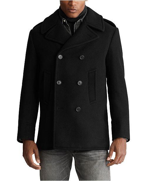 Polo Ralph Lauren Men's Wool-Blend Peacoat & Reviews - Coats .