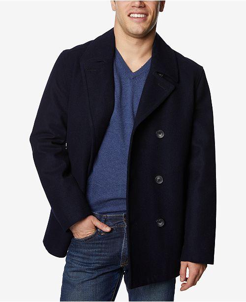 Nautica Men's Three-Button Pea Coat & Reviews - Coats & Jackets .