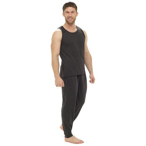 Mens Vest Short Pyjamas Men's Nightwear Summer Pjs Pajamas .
