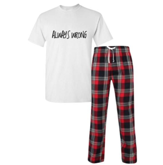Always Wrong Pyjamas Men's Pyjamas Funny Pyjamas | Et