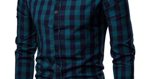 2020 NEW Men Shirt Long Sleeve Mens Shirts Casual Slim Fit Men .