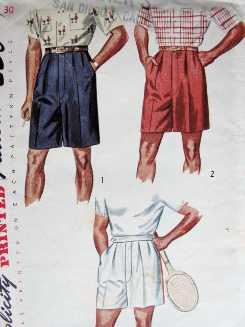 Men's shorts 1950s | Mens shorts pattern, Vintage mens fashion .