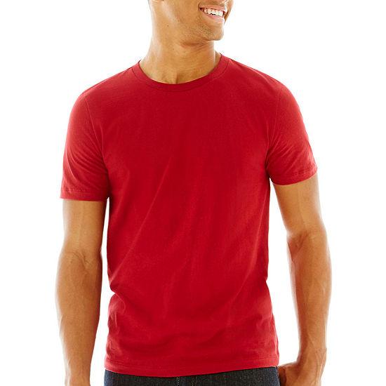Arizona Mens Crew Neck Short Sleeve T-Shirt - JCPenn