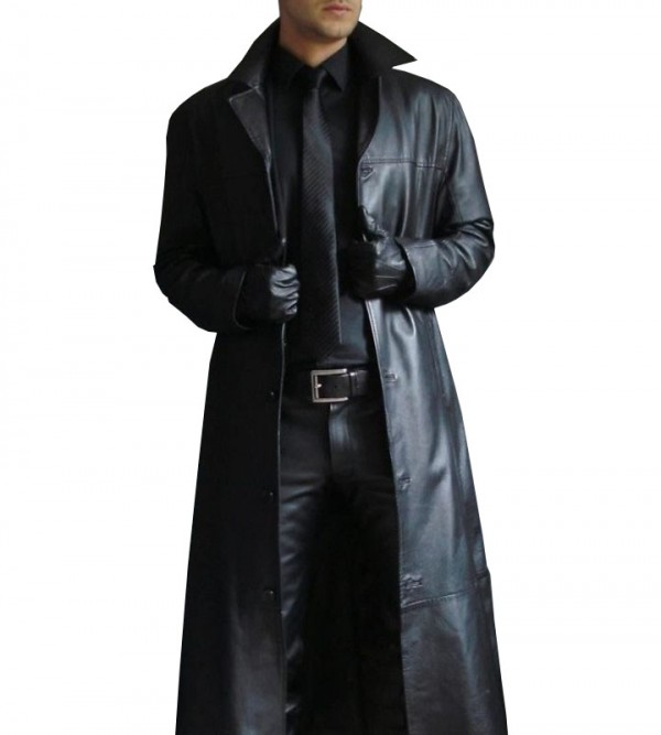 Full Length Leather Trench Coat | Buy Men's Trench Co