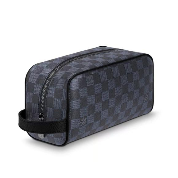 Louis Vuitton Bags | Washbag Damier Leather Cobalt Men | Poshma