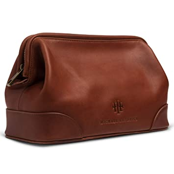 Amazon.com : Executive Leather Toiletry Bag for Men, Large 11 .