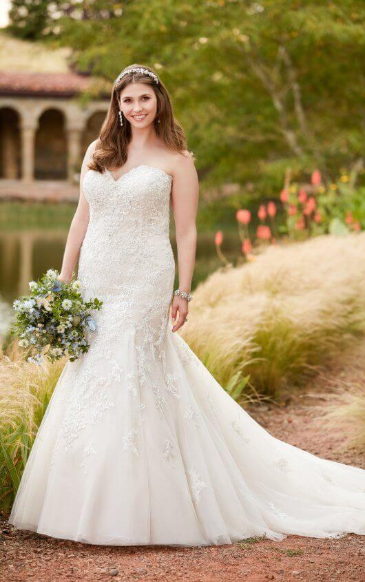 Mermaid Wedding Dresses | Plus Size Sparkling Mermaid Wedding Gown .