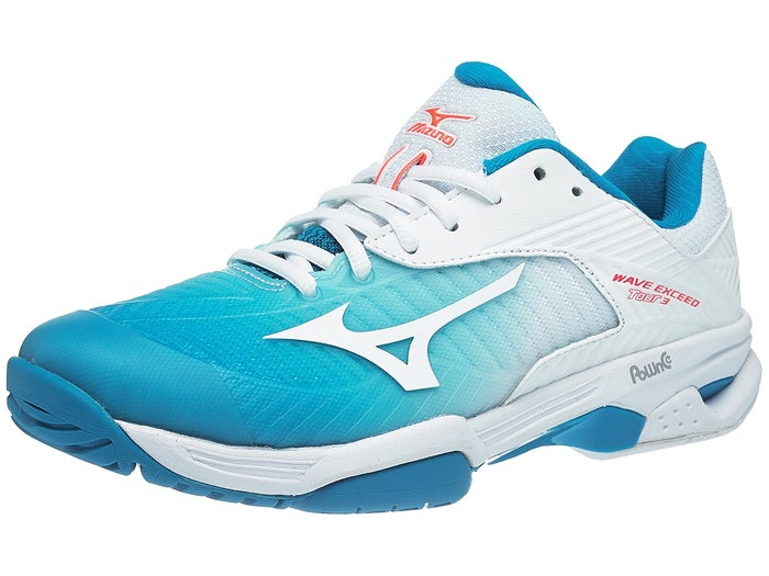 Mizuno Wave Exceed Tour 3 Blue/White Women's Shoes - Tennis .